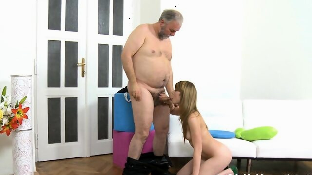Remarkable russian.. blowjob brunette old+young