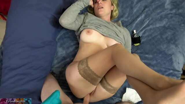 Stepmom has a.. amateur blonde big boobs